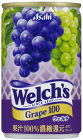 「Welch's」グレープ100 缶160g